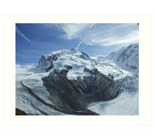 Glaciers meet .. Art Print