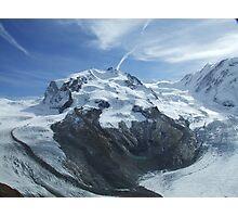 Glaciers meet .. Photographic Print