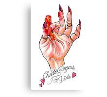 Hot Cheeto Fingers Por Vida  Canvas Print