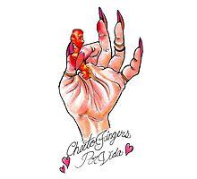 Hot Cheeto Fingers Por Vida  Photographic Print