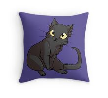 Sketch the Black Cat Throw Pillow