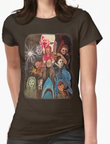 70s/80s Horror Womens Fitted T-Shirt