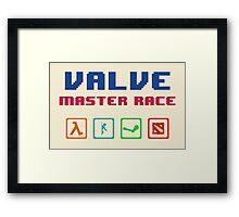 VALVE master race Framed Print