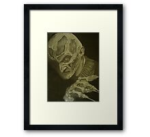edited (now high res) freddy kreuger from a nightmare on elm street movie Framed Print