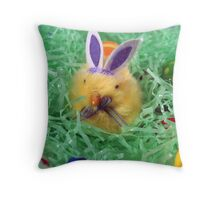 Chick With Ears Throw Pillow