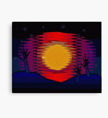 Sunset and Blue Hills Canvas Print