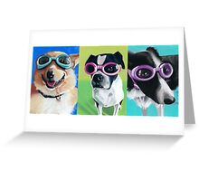 Dogs in Goggles Greeting Card