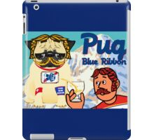 pug blue ribbon iPad Case/Skin