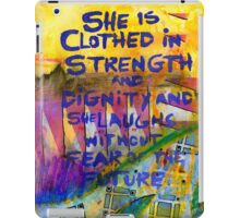 Being Clothed in STRENGTH iPad Case/Skin