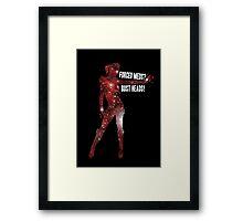 Mass Effect, Jack - Forced Meds? Bust Heads! Framed Print