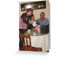 Breast Cancer Awareness Tea - Sweet Divas Bistro & Cottage, Brea, CA, USA Greeting Card