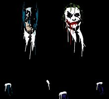 Batman & The Joker cool by GamersTshirts