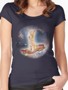 Cats in Space Women's Fitted Scoop T-Shirt