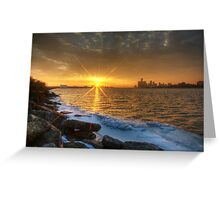 Belle Isle Sunset Greeting Card