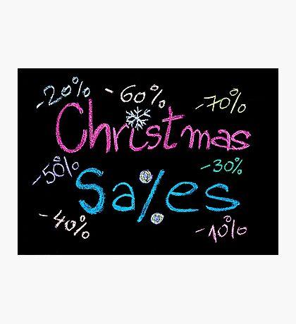 Sales conceptual image Photographic Print