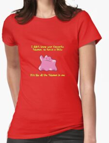 Ditto Is All Pokemon In One Womens Fitted T-Shirt