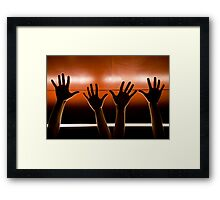 Helping Hands. Framed Print