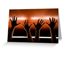 Helping Hands. Greeting Card