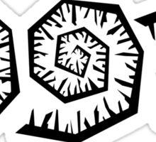 spirals black Sticker