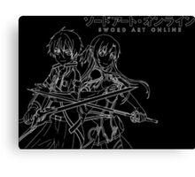 Sword Art Online Kirito and Asuna (White Outline) Canvas Print