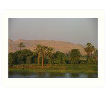 Luxor Sunset Art Print