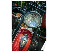 Indian motorcycle light Poster