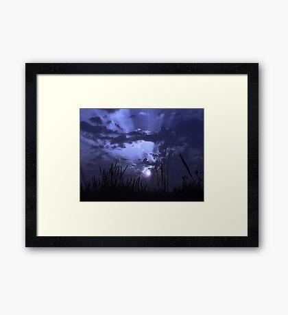 Violet Rays Framed Print