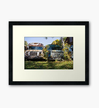 the old buses Framed Print