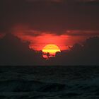 Dramatic Sunrise at Ocean by fotoeluver