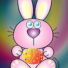 Easter Bunny_pink by Bessie Ho