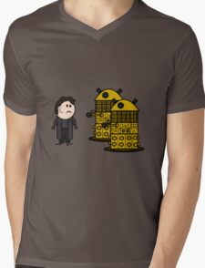 Jack Harkness and the Daleks Mens V-Neck T-Shirt