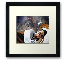 GO TO SLEEP. Framed Print