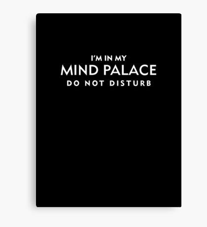 Mind Palace White Canvas Print