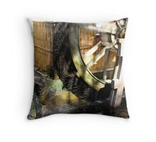 Thrown Against the Wall Throw Pillow
