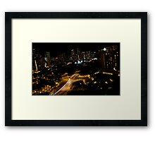 Honolulu @ Night Framed Print