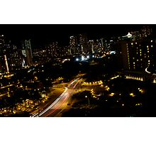 Honolulu @ Night Photographic Print
