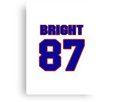 National football player Eugene Bright jersey 87 Canvas Print