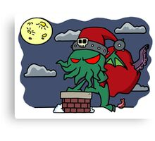 Cthulu Claus Canvas Print