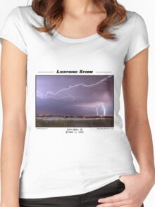 Lightning Storm Women's Fitted Scoop T-Shirt