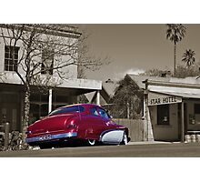The red Ford Mercury Photographic Print