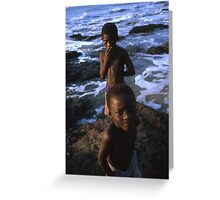 beach boys Ghana Greeting Card