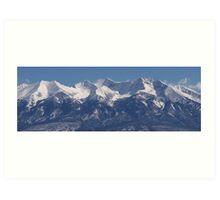 Sangre De Cristo Mountains Art Print