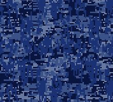 Navy Blue Digital Camo by Garaga