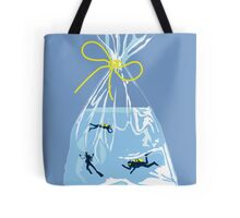 fishy business (blue jean) Tote Bag