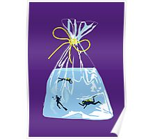 fishy business (purple) Poster