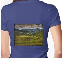Lavender Farm View Womens Fitted T-Shirt