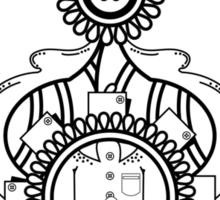 Button-Up Paisley Sticker