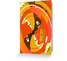 Orange and Brown Abstract Geometric Print Greeting Card
