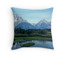 The Grand Teton Range Throw Pillow