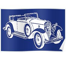 CONVERTIBLE (LARGE) WHITE Poster